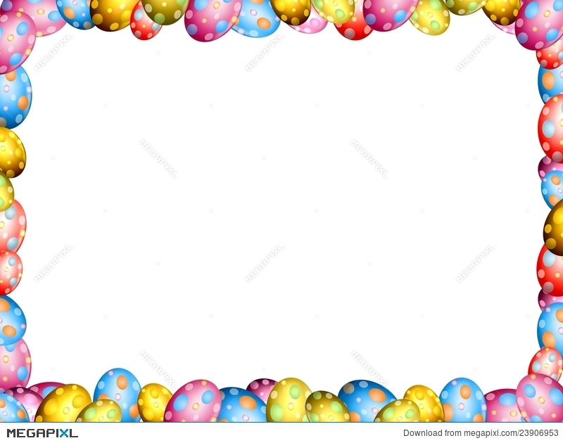 Easter Eggs Border Frame Illustration 23906953 - Megapixl