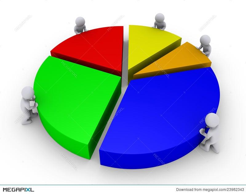 Five People Complete Pie Chart Illustration 23982343 Megapixl