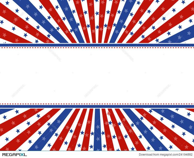 Patriotic Border Background Illustration 24194882 - Megapixl