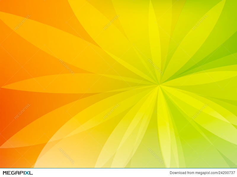 Abstract Green And Orange Background Wallpaper Illustration