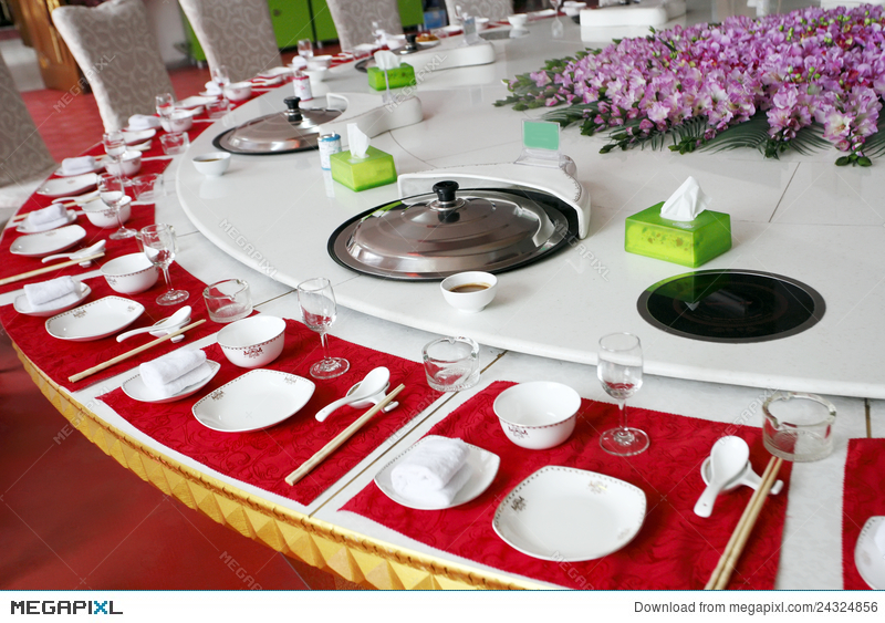 Chinese banquet table setting & Chinese Banquet Table Setting Stock Photo 24324856 - Megapixl