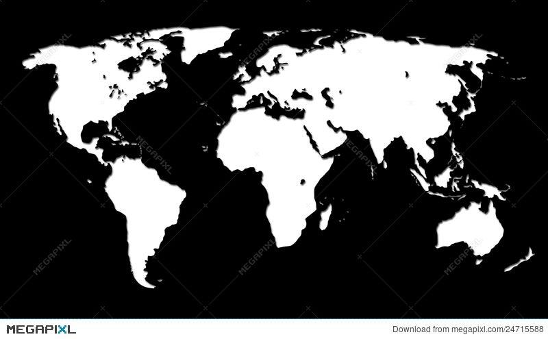 White world map on black illustration 24715588 megapixl royalty free gumiabroncs Images