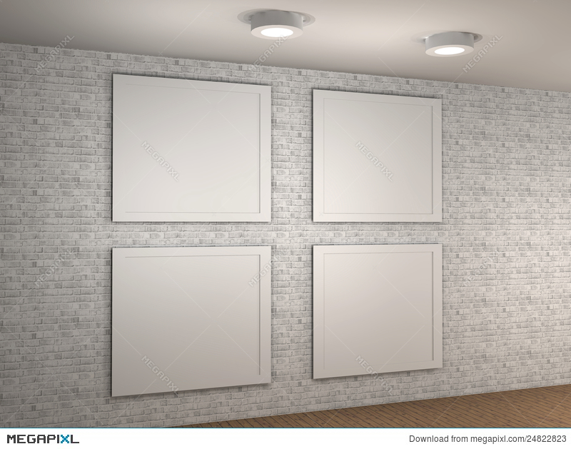 Illustration of a empty museum wall with 4 frames illustration illustration of a empty museum wall with 4 frames sciox Images