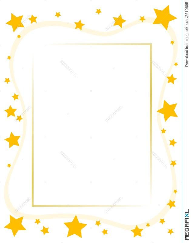 Yellow Star Frame Illustration 2510605 - Megapixl