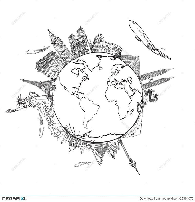 Drawing The Dream Travel Around World