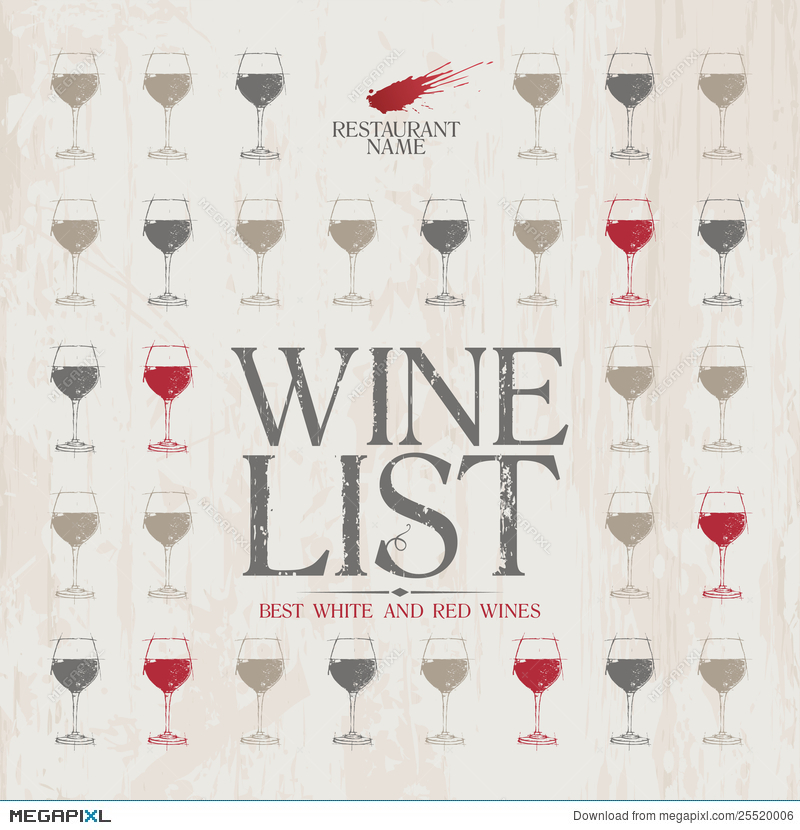 Wine List Menu Template Illustration   Megapixl