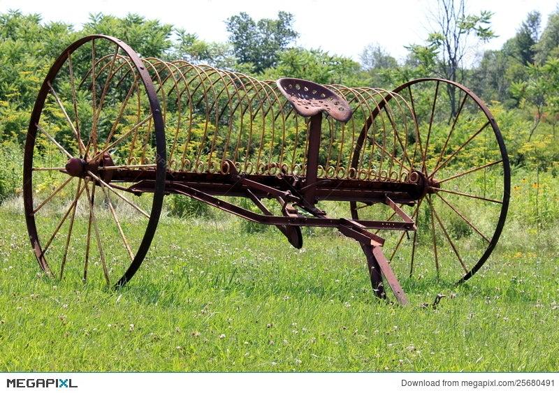Antique Farm Equipment Stock Photo