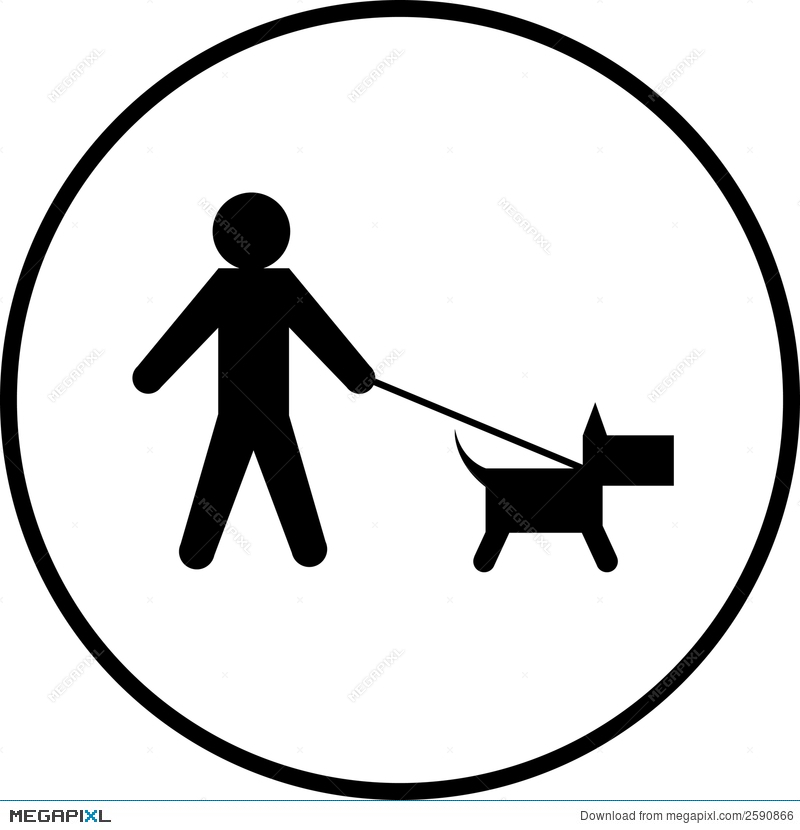 dog walk vector symbol illustration 2590866 megapixl dog walk vector symbol illustration