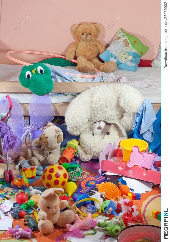 Messy Kids Room With Toys Stock Photo 25989032 - Megapixl