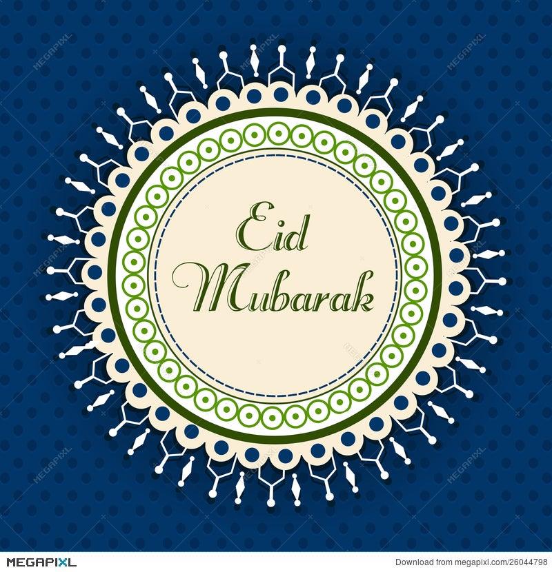 Eid mubarak greeting card illustration 26044798 megapixl eid mubarak greeting card m4hsunfo