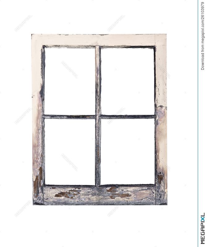 Old Rustic Window Frame Stock Photo 26103979 - Megapixl