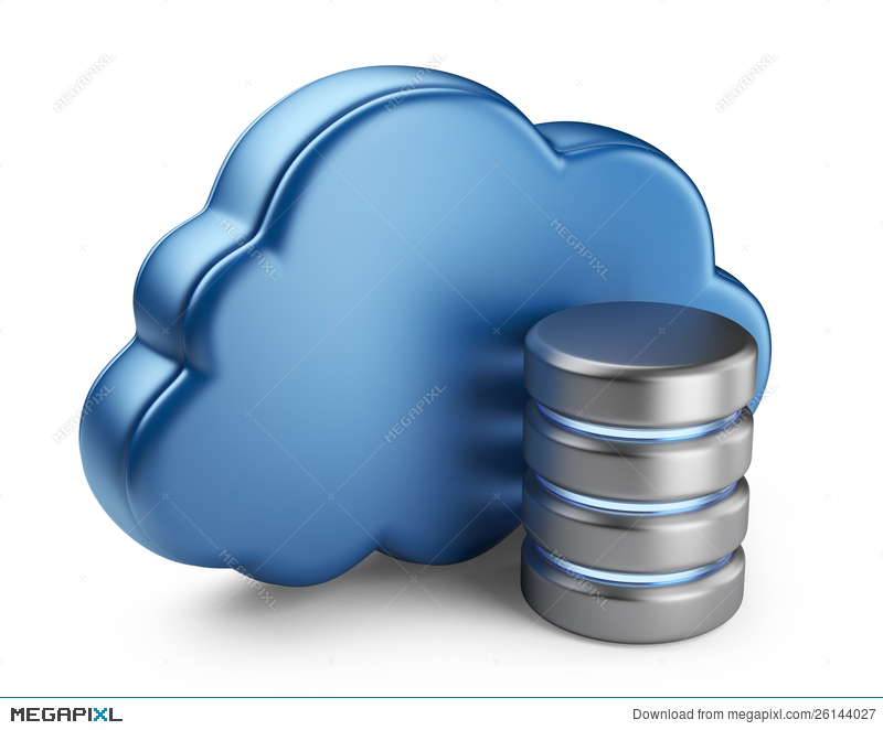 Cloud Computing And Database  3D Icon Isolated Illustration
