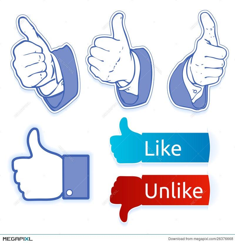 Like Facebook Symbol Illustration 26376668 Megapixl