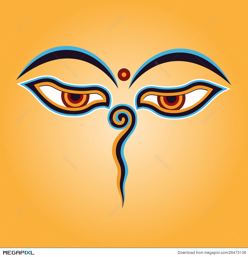 Buddha Eyes Illustration 26473138 Megapixl