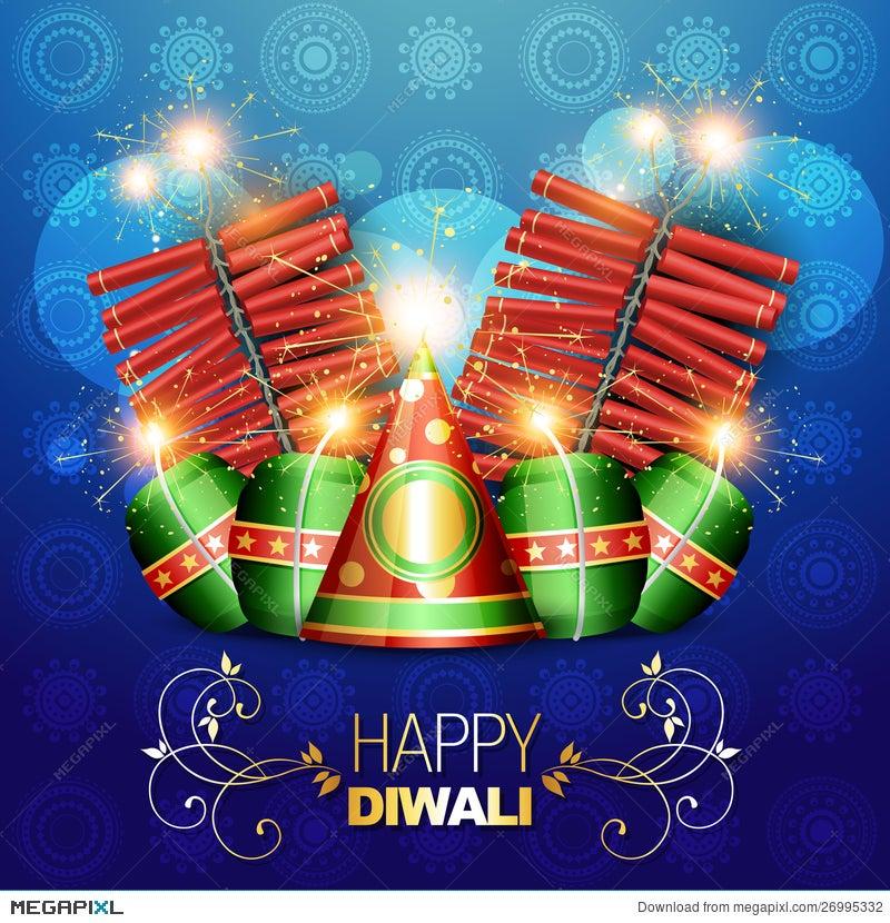Diwali Crackers Background Illustration 26995332