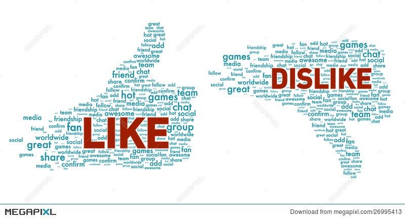 Like And Dislike Symbol Isolated Illustration 26995413 Megapixl