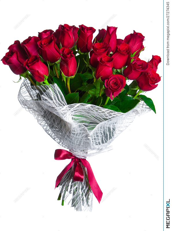 Rose Flowers Bouquet Isolated Stock Photo 27274345 - Megapixl