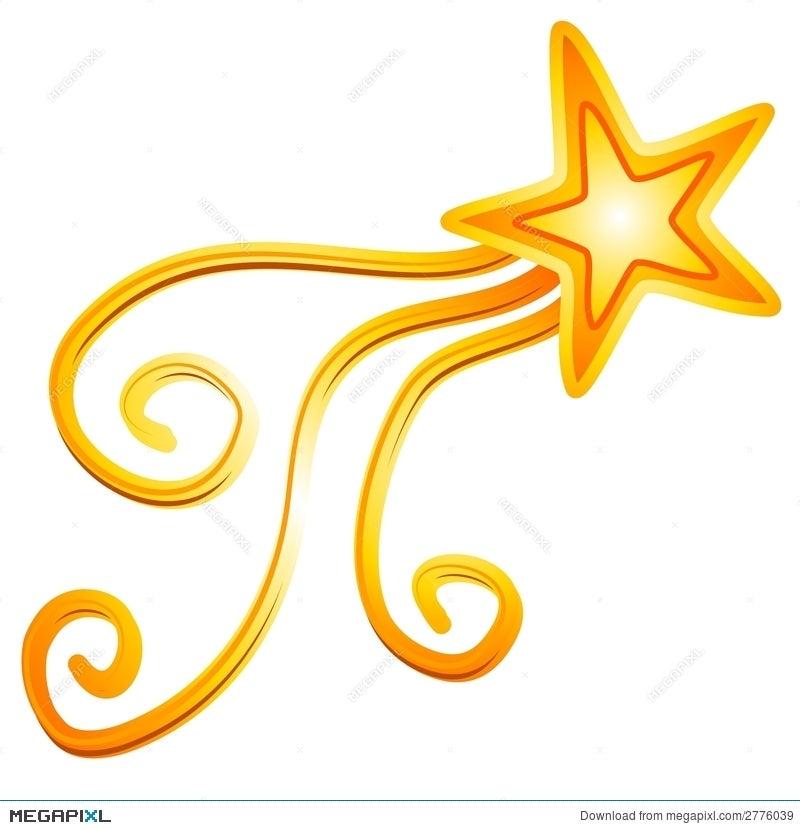 Gold Yellow Shooting Star 2 Illustration 2776039 Megapixl