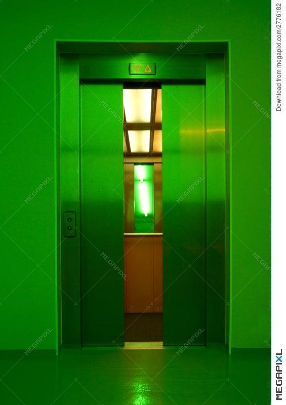 Closing elevator doors & Closing Elevator Doors Stock Photo 2776182 - Megapixl