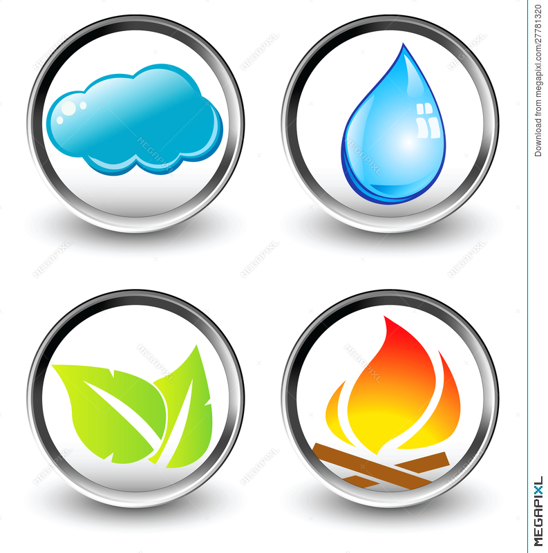 Vector Symbols Of Four Elements Of Nature Illustration 27781320