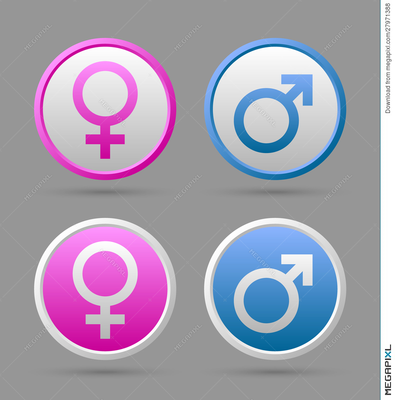 Venus And Mars Female And Male Symbols Illustration 27971388 Megapixl