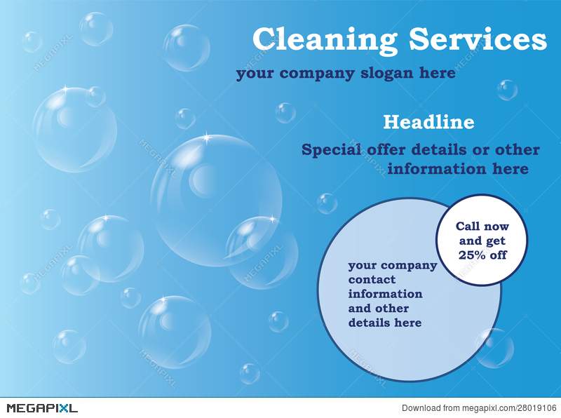 Cleaning Services Flyer Template Illustration 28019106 Megapixl