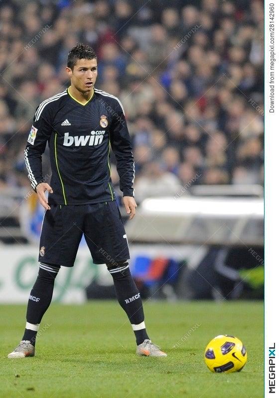 Cristiano Ronaldo Ready To Shoot Stock Photo 28142960 Megapixl