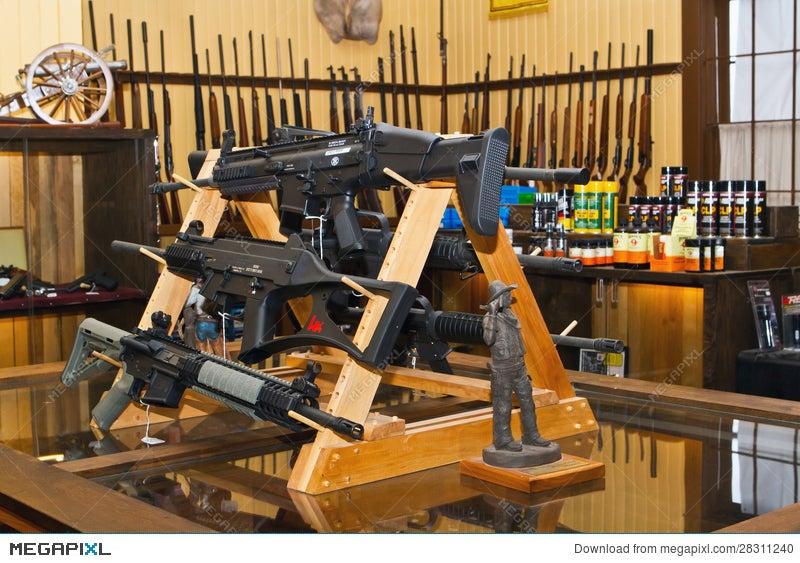 American Gun Shop Interior Stock Photo 28311240 Megapixl