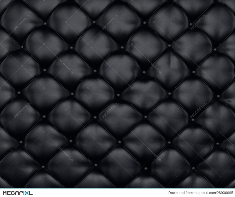 Luxury Texture Of Black Leather Furniture With Ons