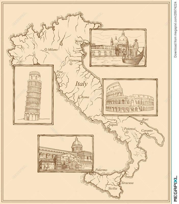 Cuneo Italy Italian Travel Map  #44748 Blue Ballpoint Pen