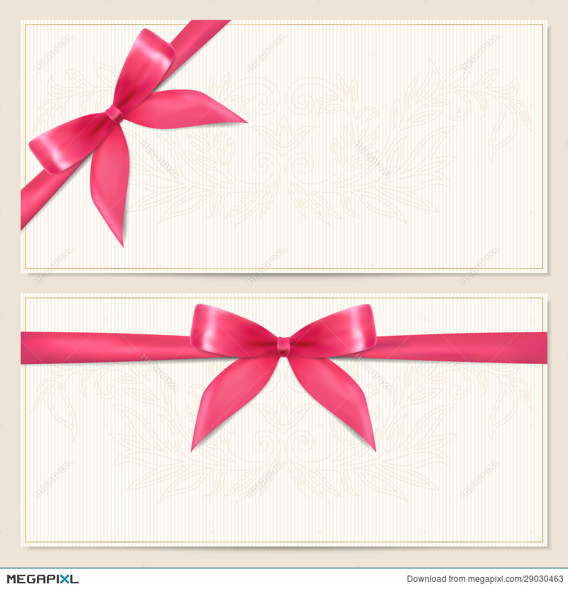 Gift voucher coupon template with bow ribbons illustration gift voucher coupon template with bow ribbons yadclub Images