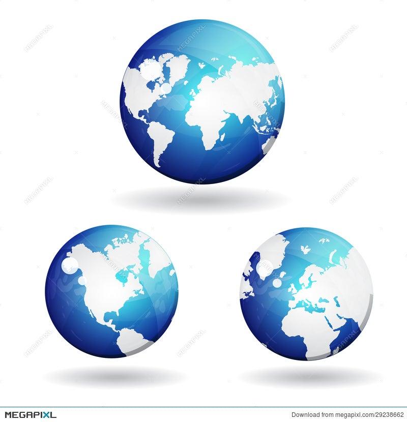 3d world globe map vector icon illustration 29238662 megapixl 3d world globe map vector icon gumiabroncs Choice Image