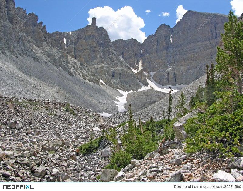 Glacier Below Wheeler Peak In The Great Basin National Park Nevada Stock Photo 29371580 Megapixl