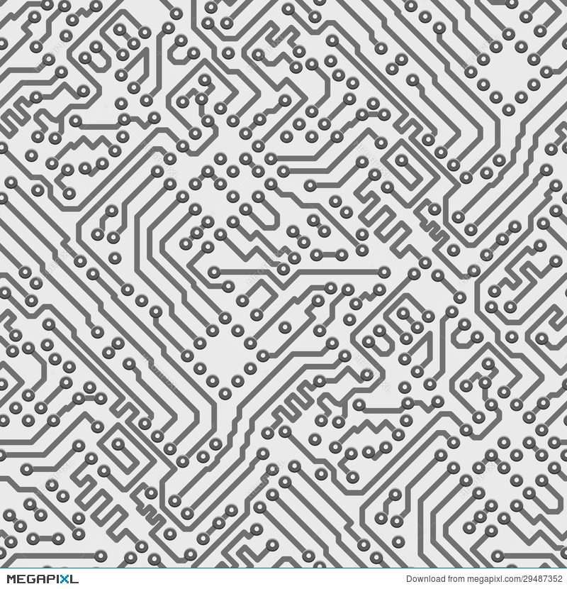 Circuit Board Vector Computer Seamless Pattern Illustration 29487352 ...