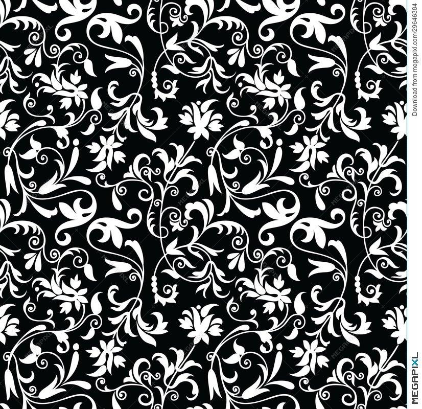 Seamless Fancy Floral Background-Pattern Illustration