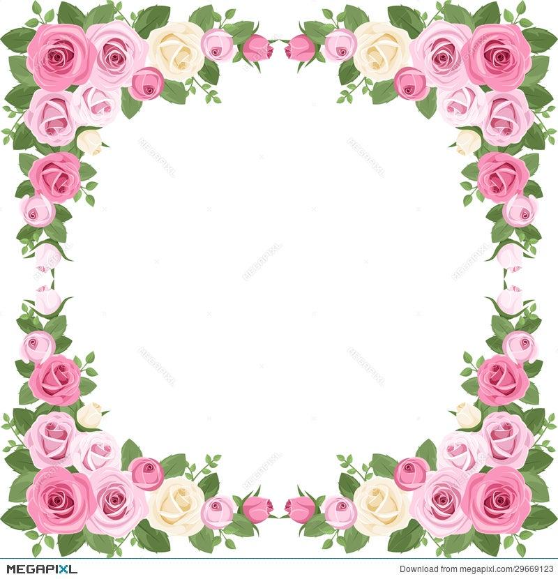 Vintage Roses Frame. Vector Illustration. Illustration 29669123 ...