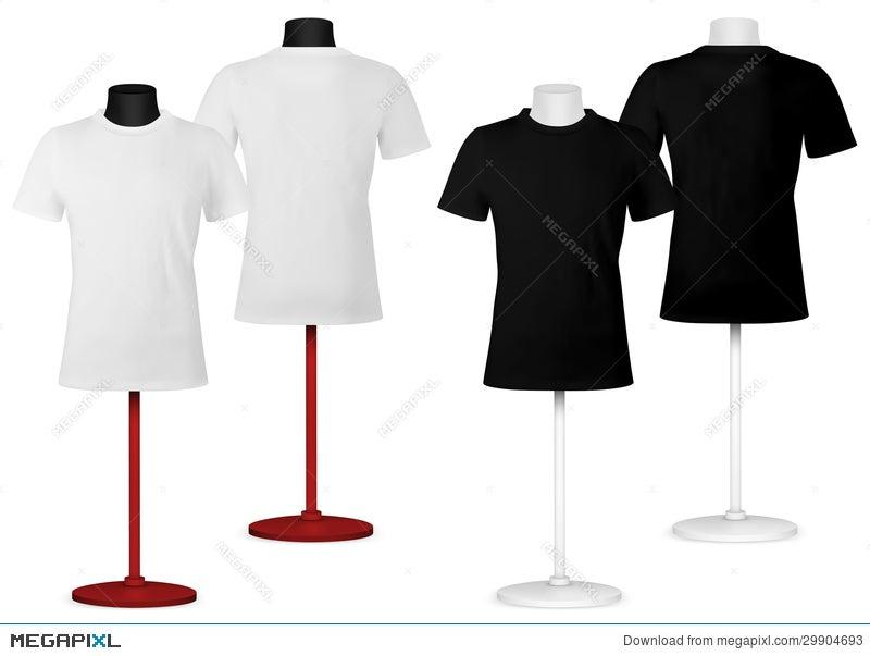 plain t shirt on mannequin torso template illustration 29904693