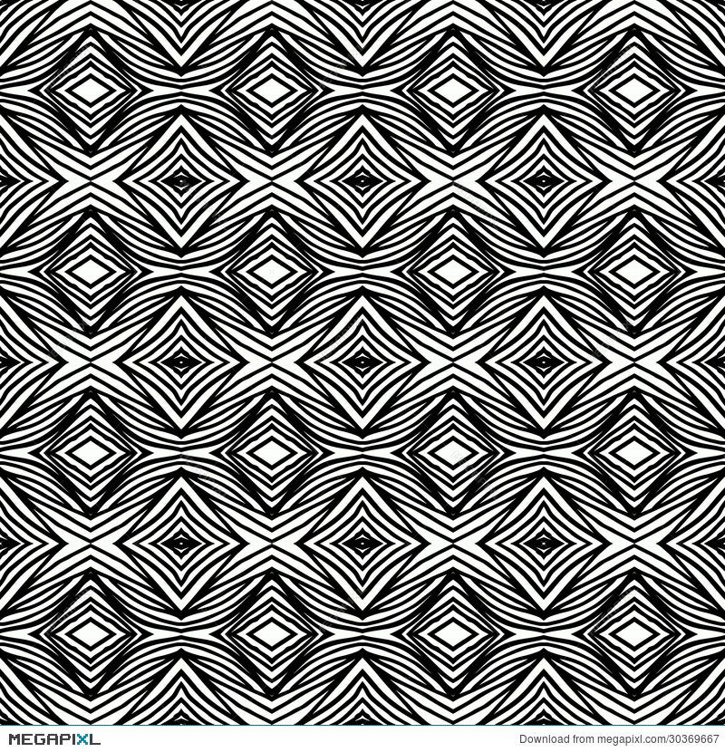 Simple Geometric Black And White Pattern