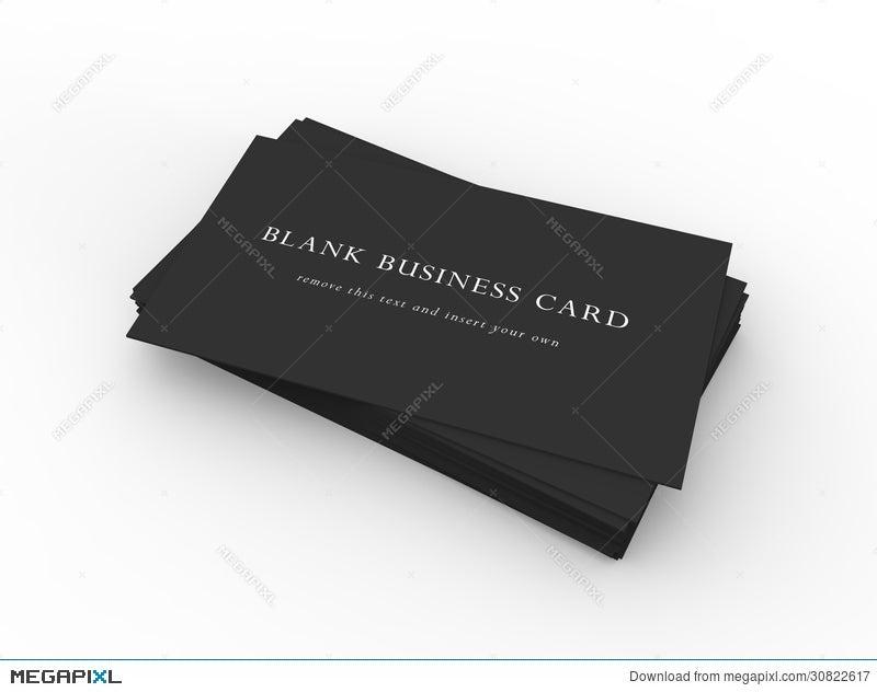 A stack of black business cards illustration 30822617 megapixl a stack of black business cards reheart Gallery