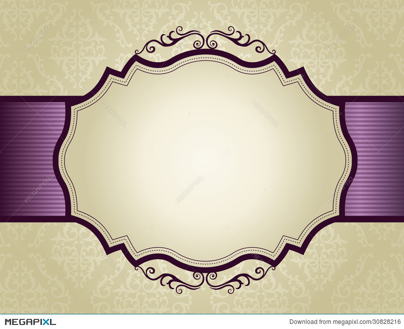 invitation background with ornamental border illustration 30828216