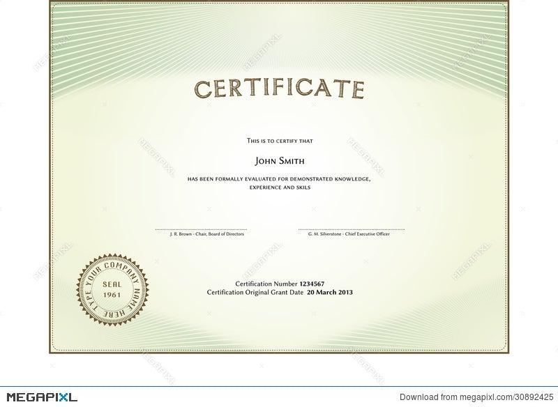 Certificate Form Illustration 30892425 - Megapixl