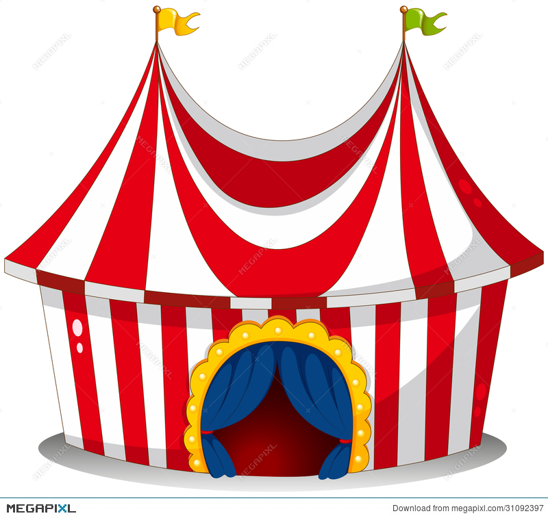 A circus tent  sc 1 st  Megapixl & A Circus Tent Illustration 31092397 - Megapixl