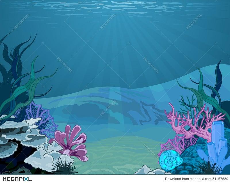 Underwater landscape illustration 31157680 megapixl underwater landscape toneelgroepblik Choice Image