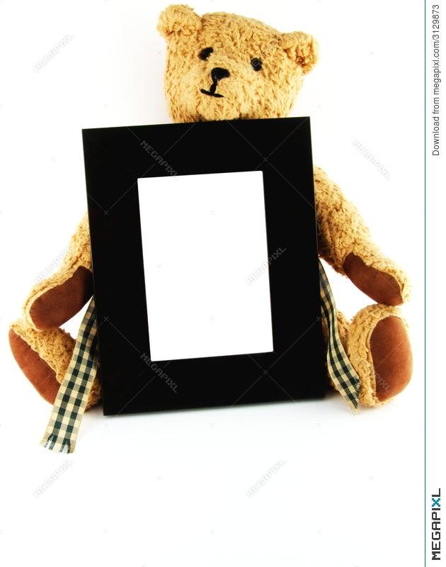 Teddy Bear Holding Frame Stock Photo 3129873 - Megapixl