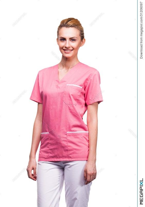 young blonde nurse stock photo 31206097 megapixl