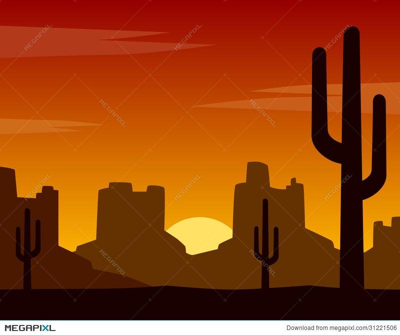 wild west sunset background illustration 31221506 - megapixl  megapixl.com