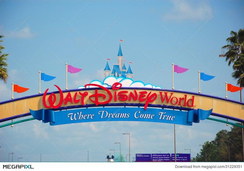 walt disney world entrance stock photo 31229351 megapixl