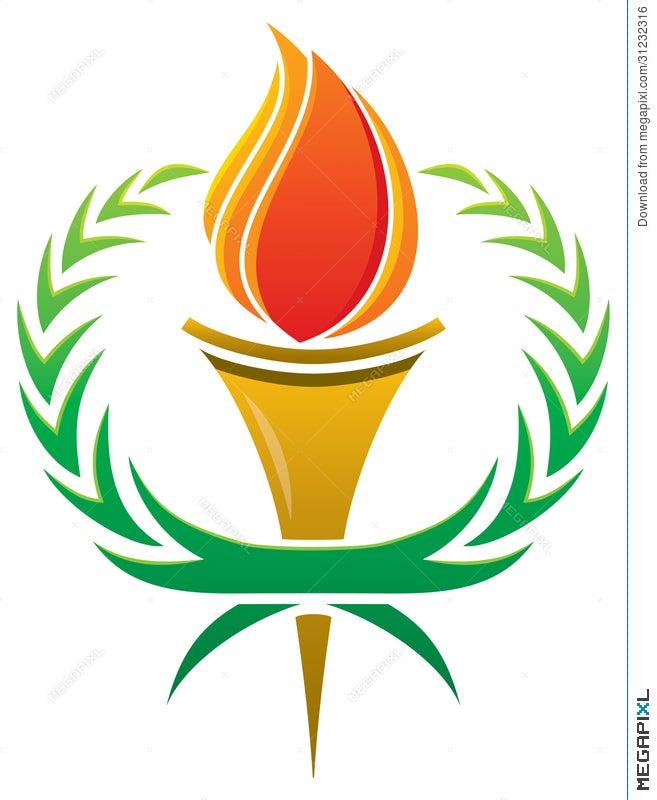 Flame Torch Logo Illustration 31232316
