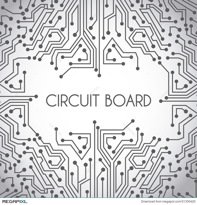 Circuit Board Design Illustration 31330420 - Megapixl