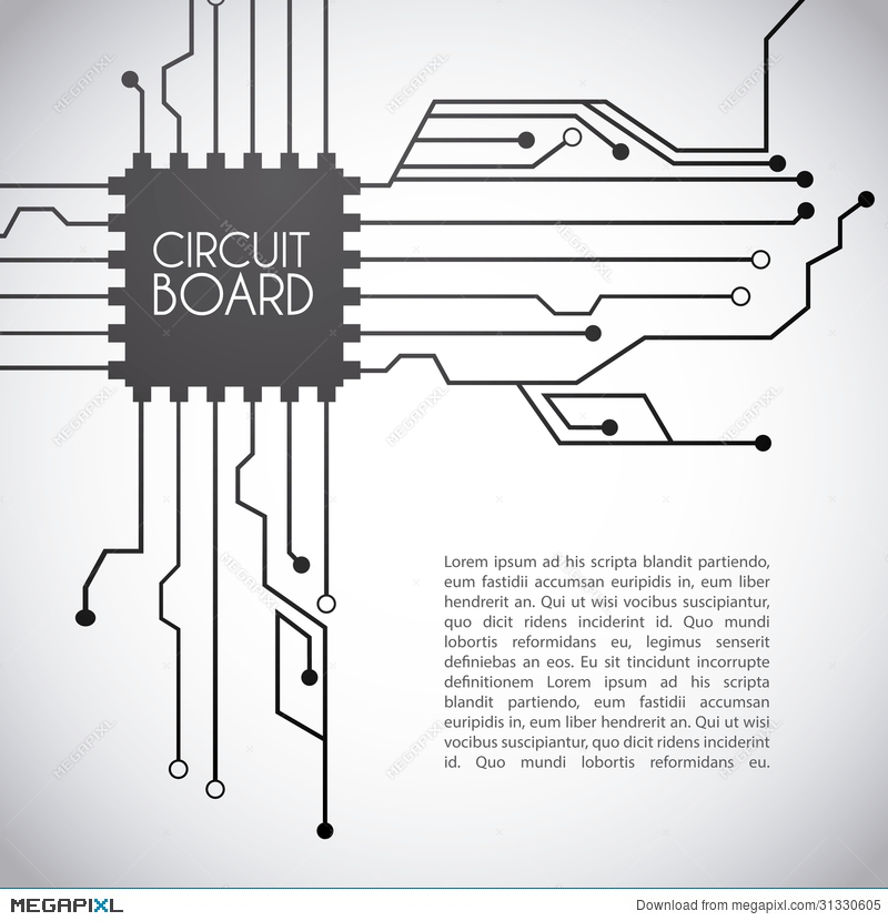 circuit board design illustration 31330605 megapixl rh megapixl com